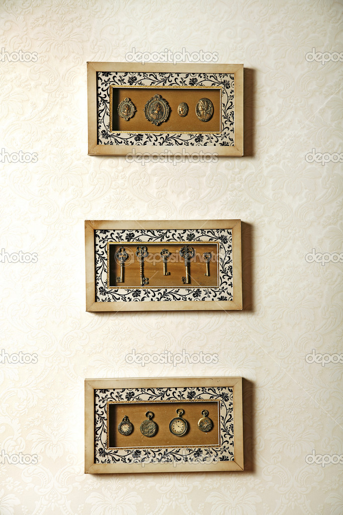 Vintage Handcraft Items For Wall Decoration Stock Photo