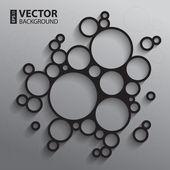 Fotografia sfondo astratto con dorso e bianco schizzo grafico cerchi e ombre
