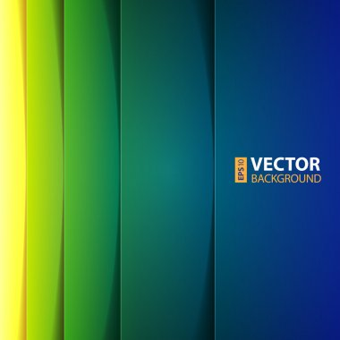 Abstract yellow, green and blue rectangle shapes background.