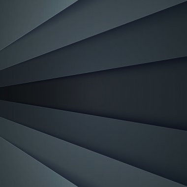 Abstract background with dark grey paper layers