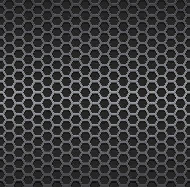 Silver metallic grid background. stock vector
