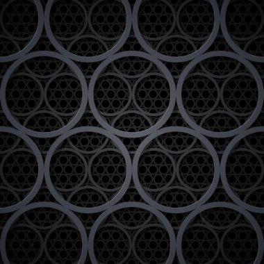 Abstract dark grey metal circles background. stock vector