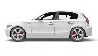 Sport car made in 3d