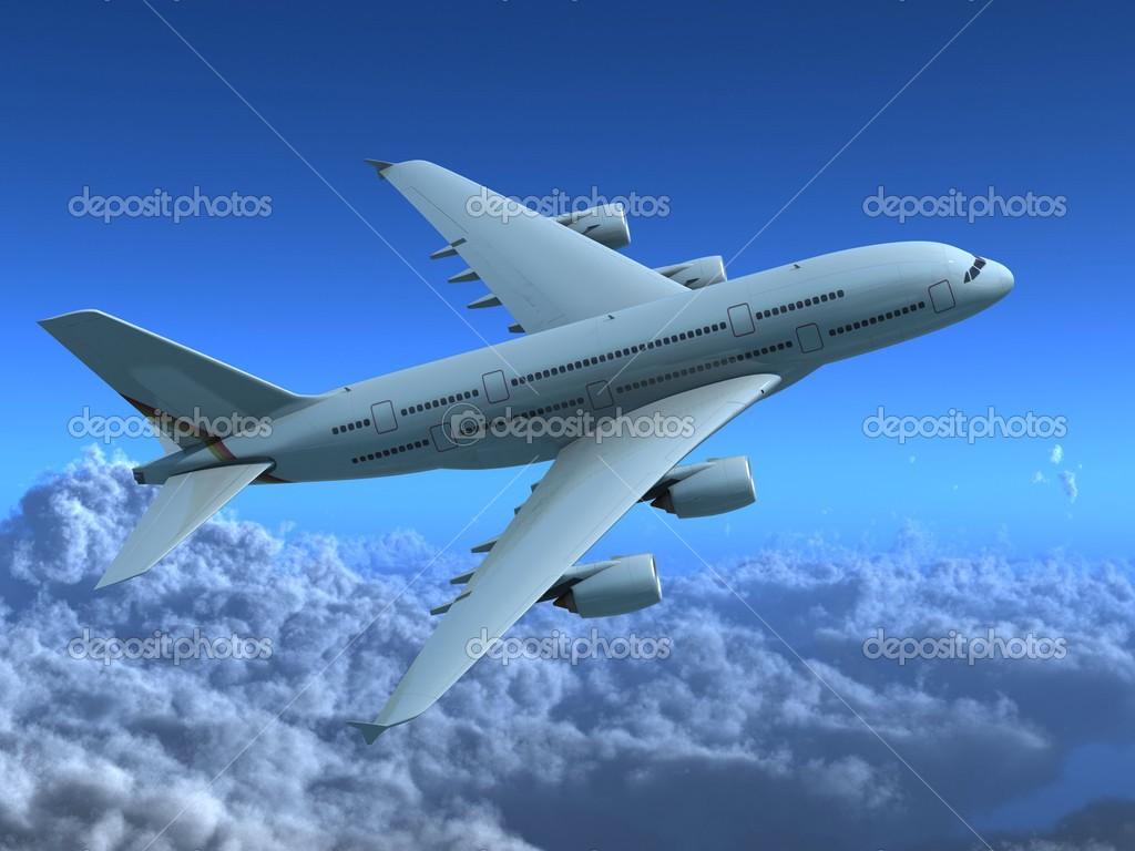 Super Hi Res Airplane Stock Photo