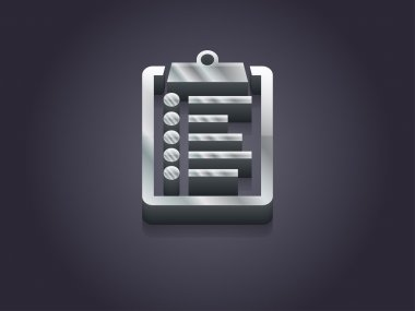 3d illustration of clipboard icon stock vector