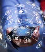 Fotografie Zugriff auf Business-Netzwerk mit smartphone