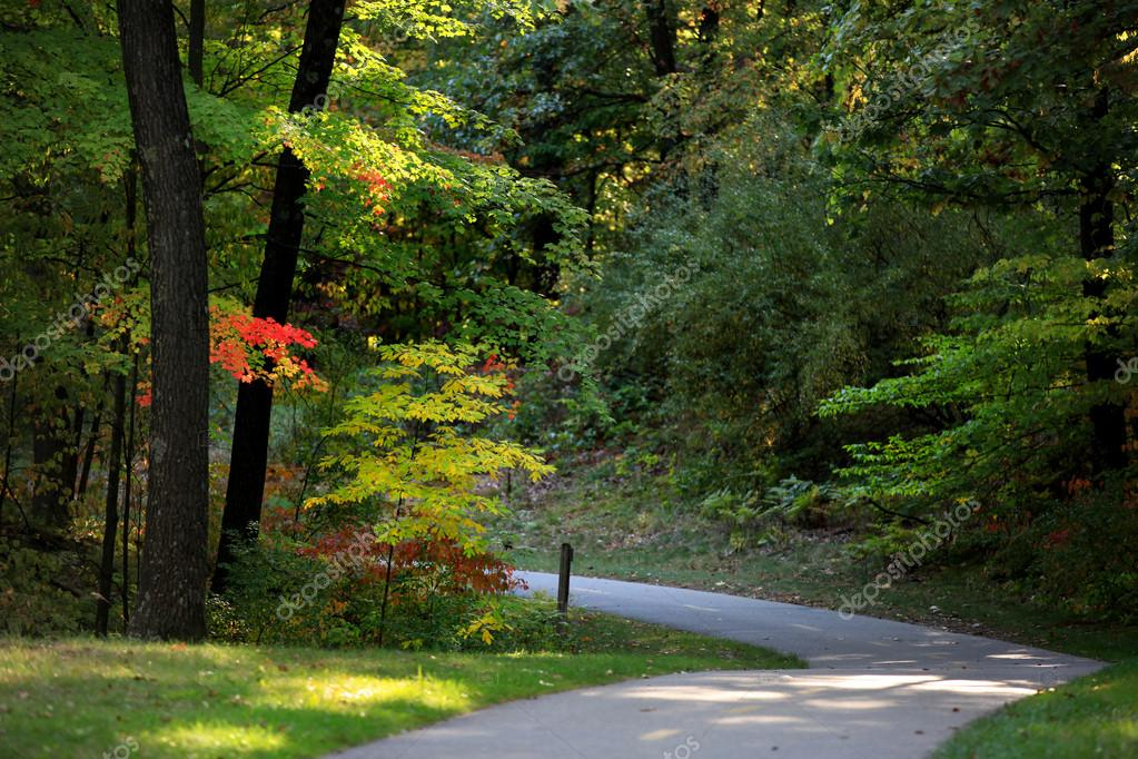 Scenic bike trail