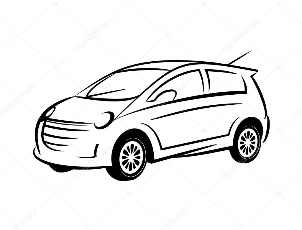 Auto-Strichzeichnungen — Stockfoto © snehitdesign #32441341