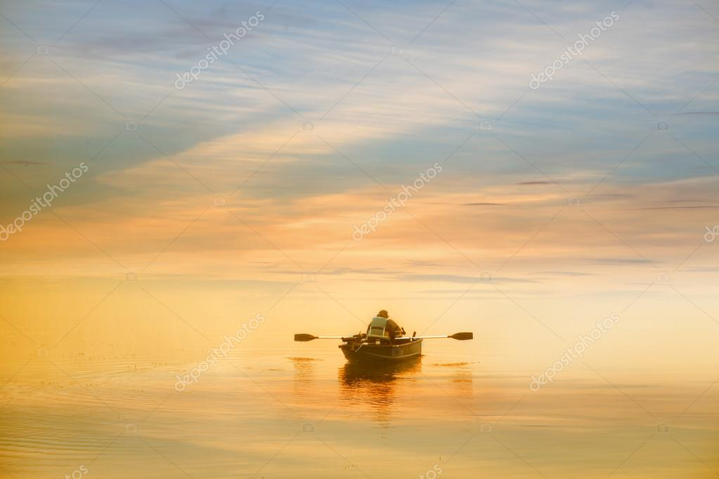 Boating in the dawn