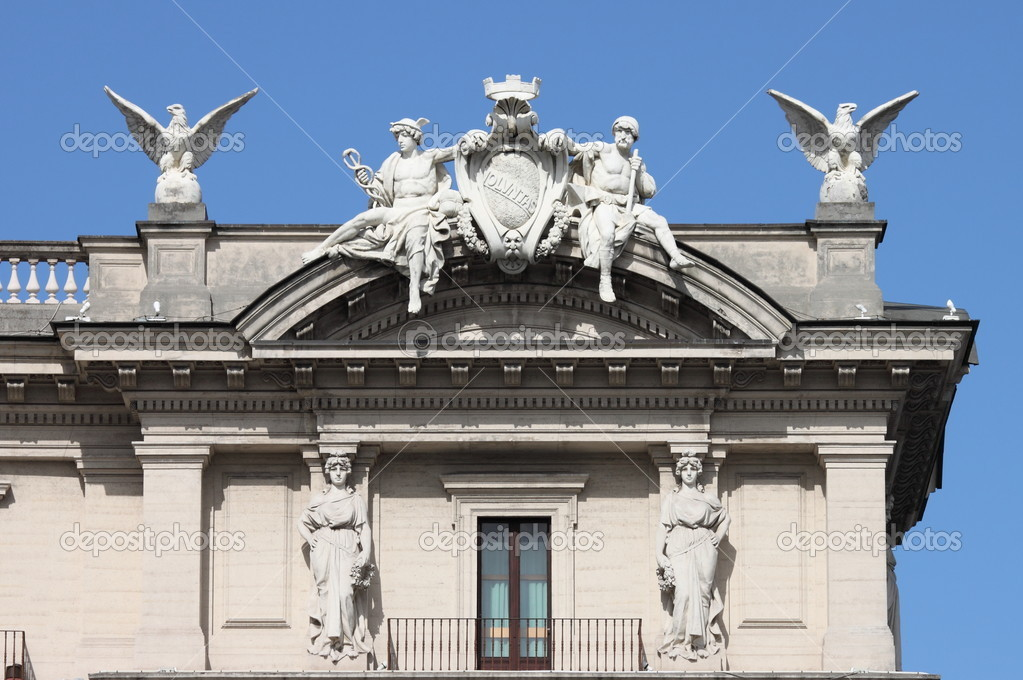 Decorazioni barocche del Palazzo del quirinale a Roma, Italia \u2014 Foto di  alessandro0770