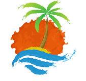 Fotografia Palma tropicale sullisola con mare
