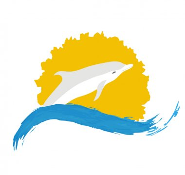 Dolphin vector illustration,