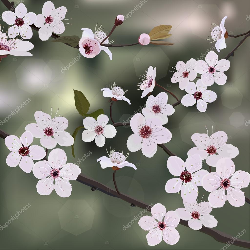Card design, flower tree