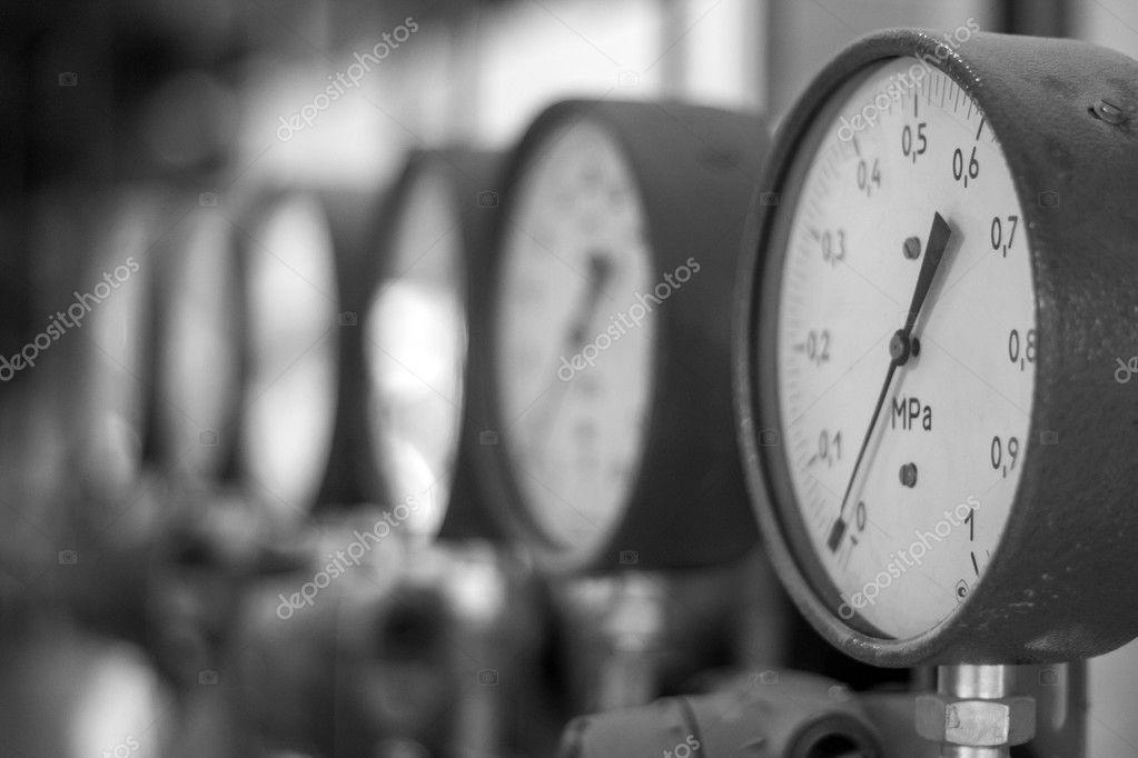 Manometers in the boiler stock vector