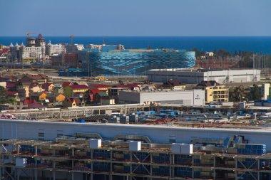 SOCHI, RUSSIA - JUNE 20: Construction of the stadium
