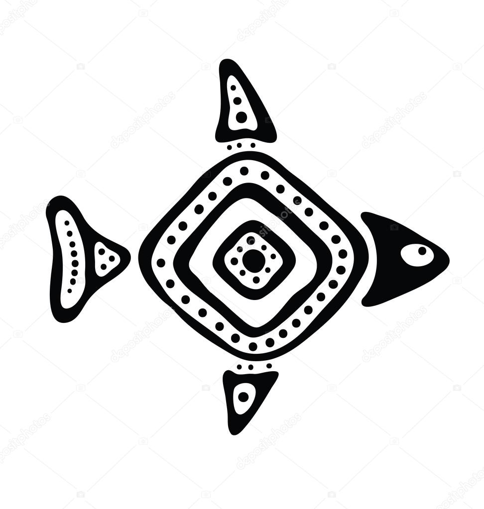 fish in the native style, vector illustration