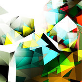 Fotografie Colorful Pyramidal Abstract Background