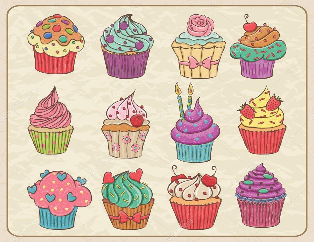 Cupcakes Basteln Mit Senioren Cupcake Zeichnung 1