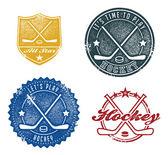 Fotografia francobolli del hockey stile vintage