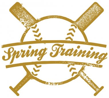 Vintage Spring Training Baseball Graphic