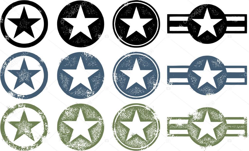 Grunge Military Stars