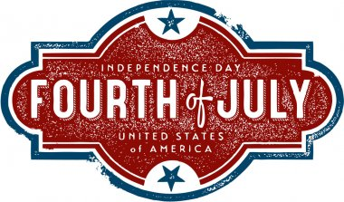 Vintage 4th of July Sign