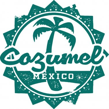 Cozumel Mexico Vacation Stamp