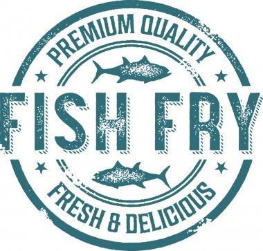 Fish Fry Menu Stamp