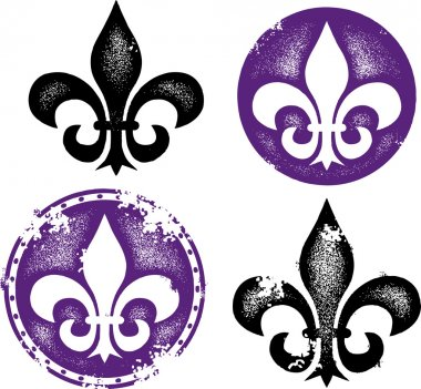 Grunge Fleur De Lis Collection illustration stock vector