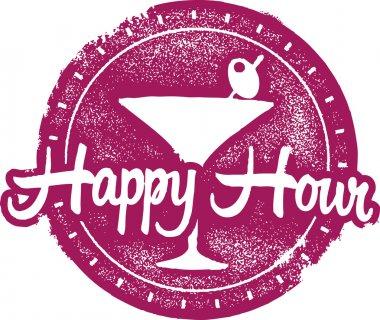 Happy Hour Bar Stamp