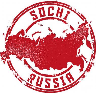 Sochi Russia Rubber Stamp