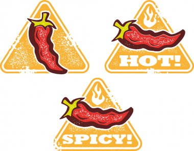 Spicy Hot Chili Pepper Signs