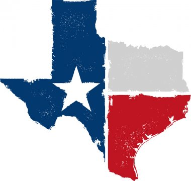 Distressed Texture Texas State Icon stock vector