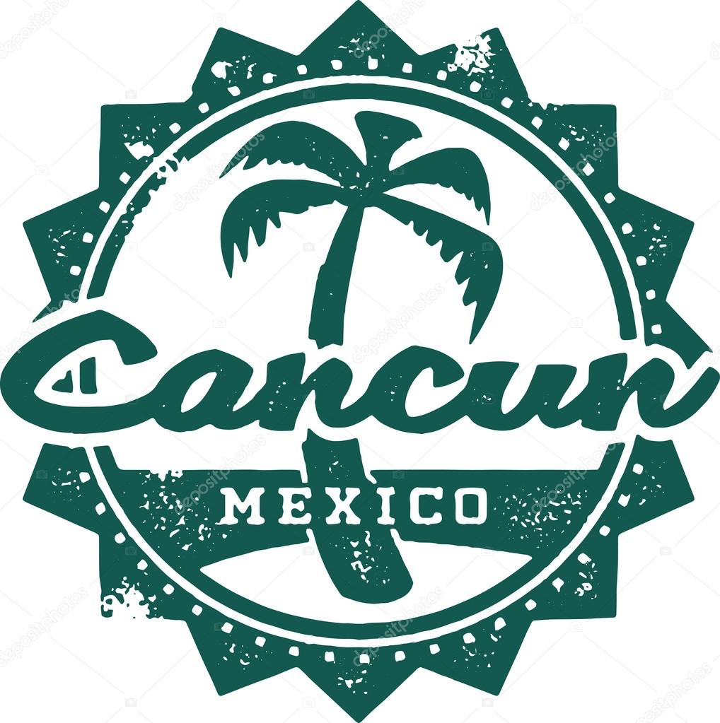 Cancun Mexico Vacation Stamp Stock Vector C Daveh900 42847635