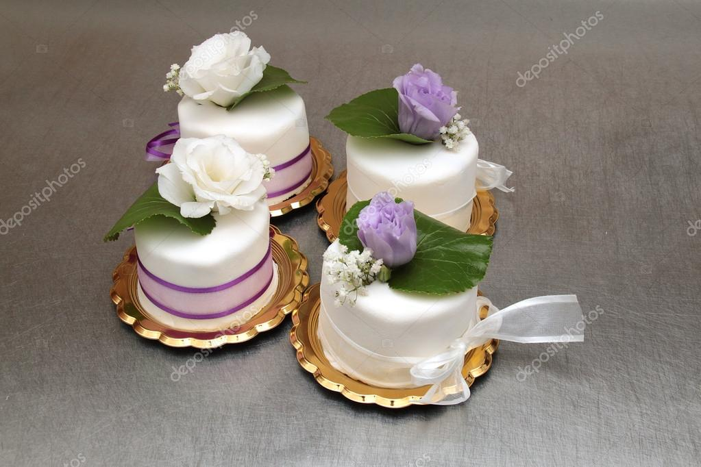 Four small wedding cakes stock photo mariankadlec311 19442635 four small wedding cakes stock photo 19442635 junglespirit Images
