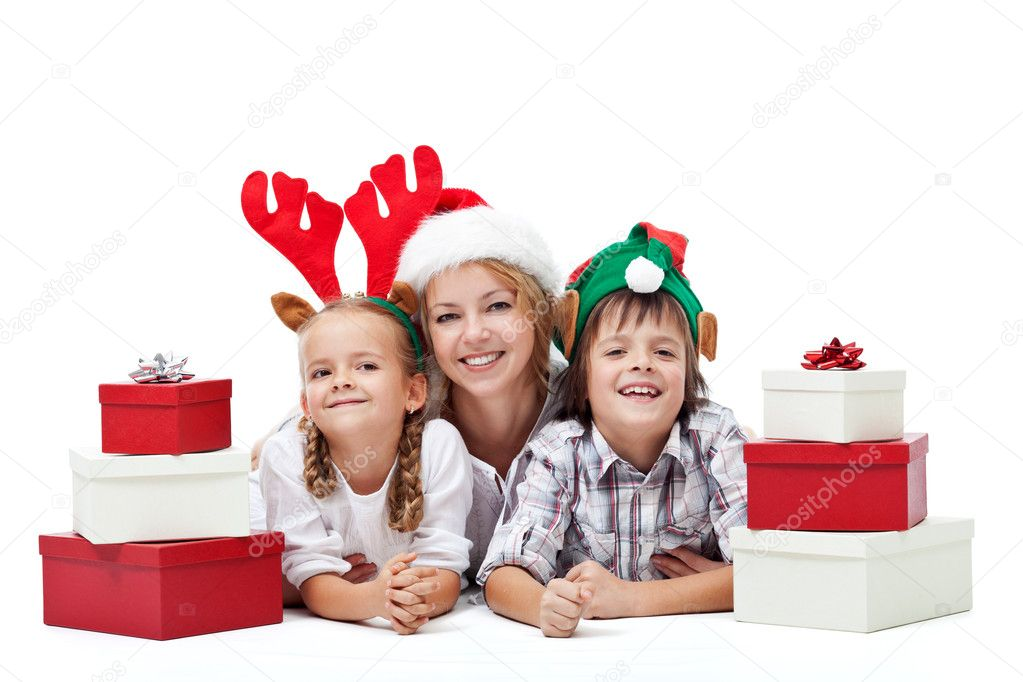 Happy christmas with presents