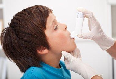 Boy with respiratory system illness