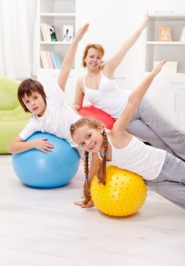 Healthy life concept with exercising