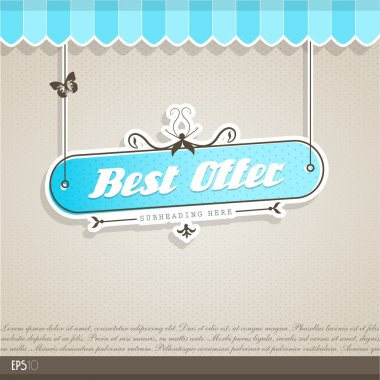 Vintage vector background with place for your text. clip art vector