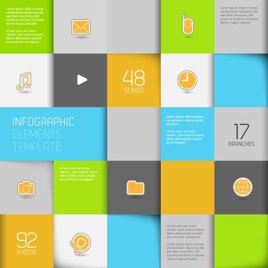 Flat design template - Vector Illustration