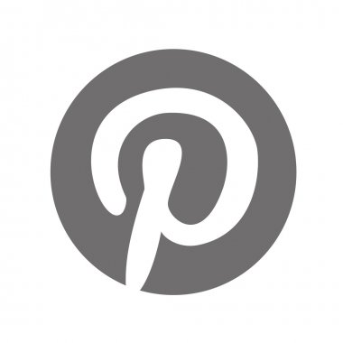 Original Grey Pinterest Web Icon