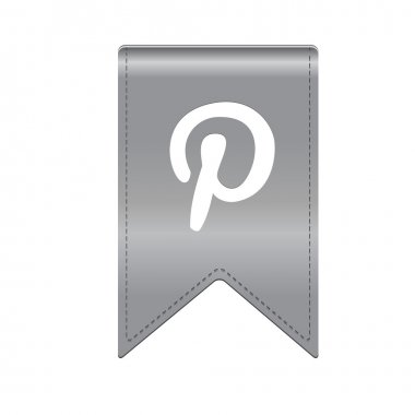 Modern ribbon pinterest icon