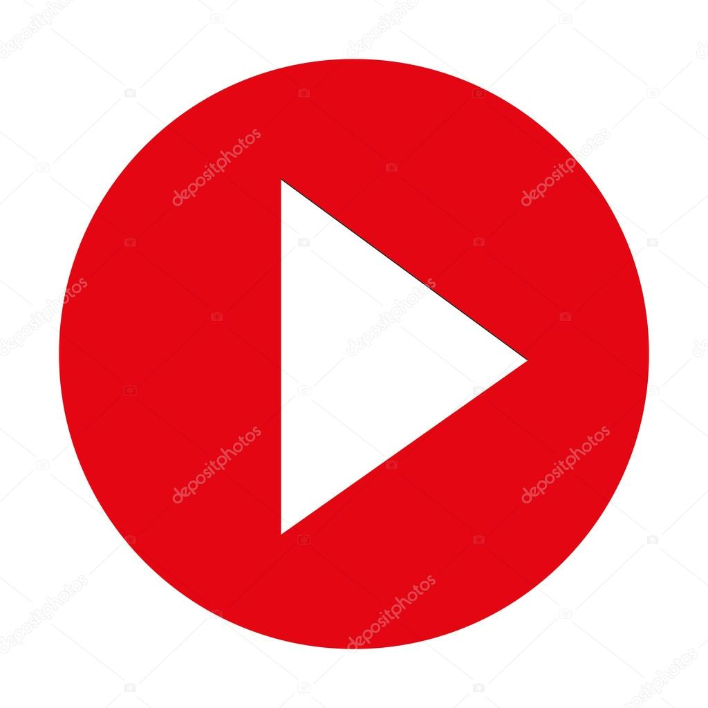 Modern Round Youtube Icon Stock Vector Bigxteq 44939827
