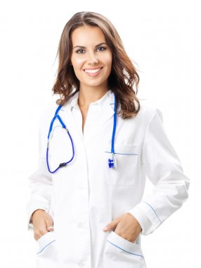 Young female doctor, isolated
