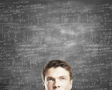 board with formulas