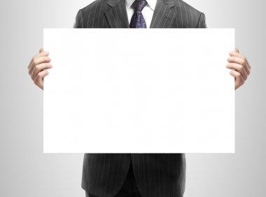 blank placard