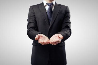 businessman with hand