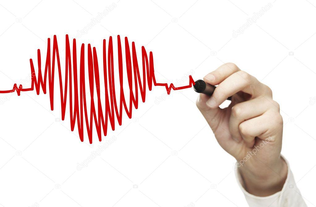 Drawing Chart Heartbeat Stock Photo C Peshkova 14028116