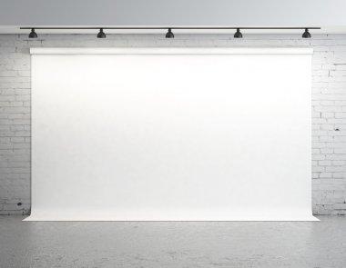 backdrop in room
