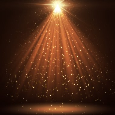 Great background with shining stars and rays stock vector